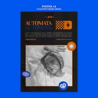 과대 광고 테마 디자인 포스터 템플릿