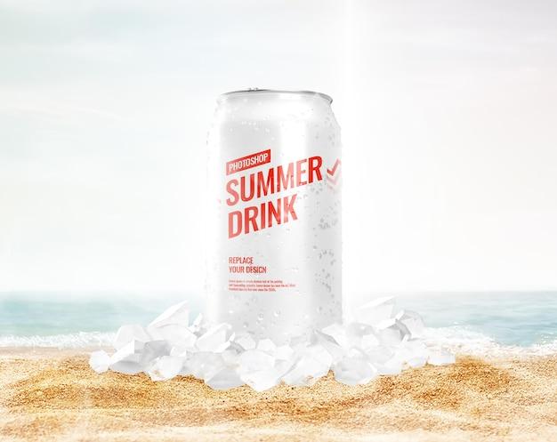 Ice can mockup summer