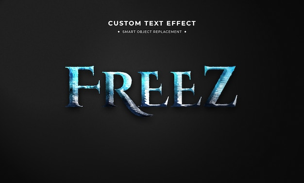 Ice cold 3d text style