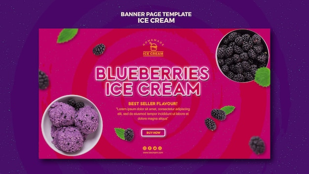 Ice cream banner design