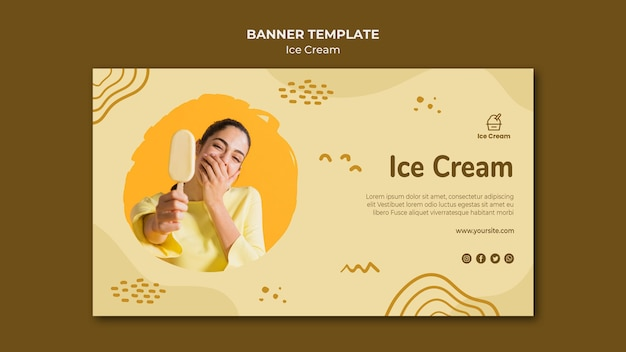 Ice cream banner template