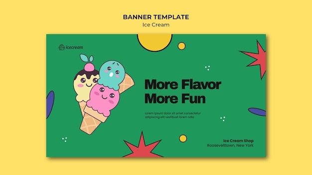 Шаблон баннера мороженого