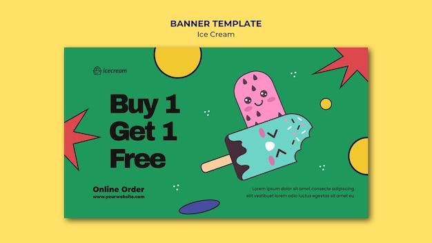 Modello di banner gelato