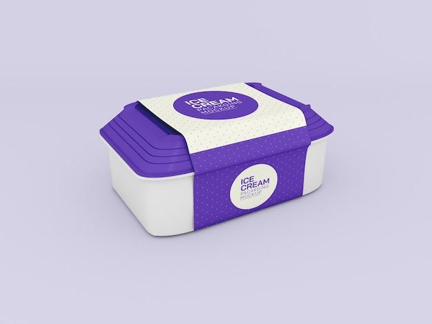 Ice cream box mockup