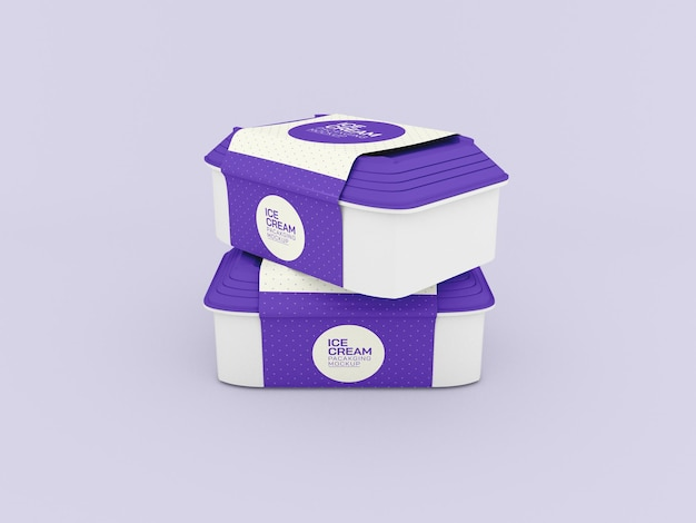 Ice cream boxes mockup