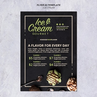 Ice cream concept flyer template