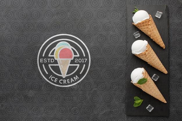 Concetto di gelato mock-up