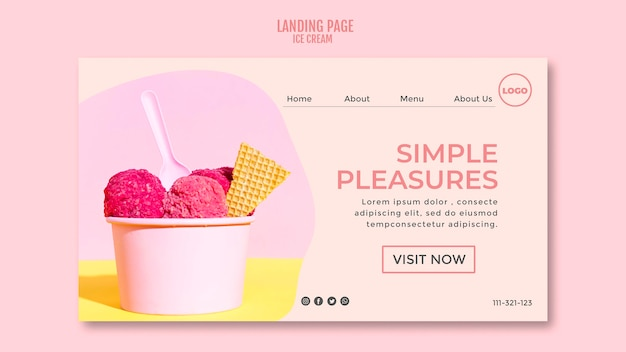 Ice cream cup landing page