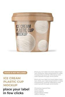 Макет чашки мороженого