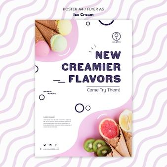 Шаблон флаера мороженого