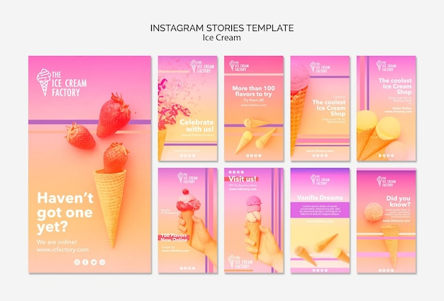 Ice cream instagram stories template