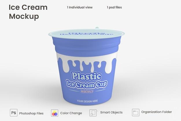아이스크림 용기 포장 모형