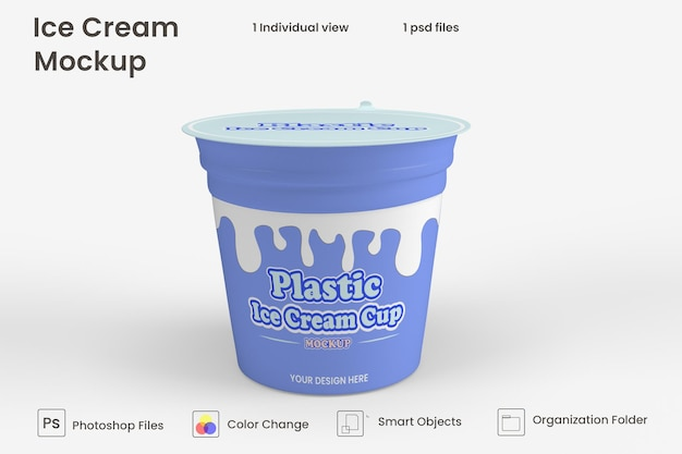 Макет упаковки банки для мороженого