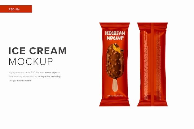 モダンなデザインスタイルのアイスクリームモックアップ