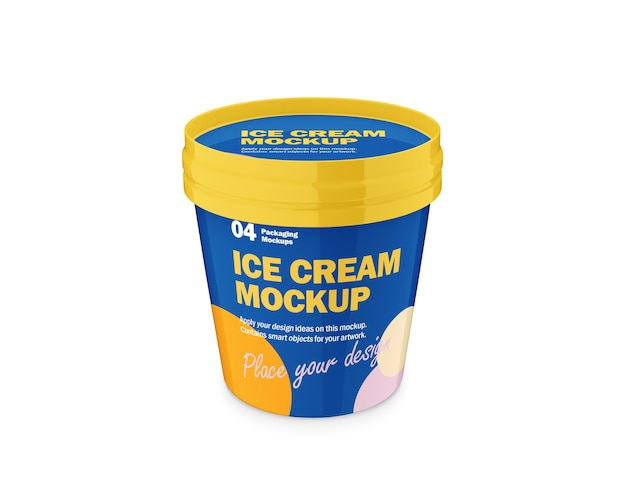 Ice cream packaging design mockup