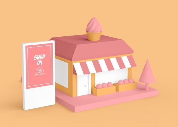 Внешняя реклама магазина мороженого