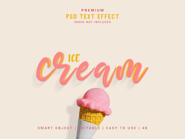 Ice cream text effect