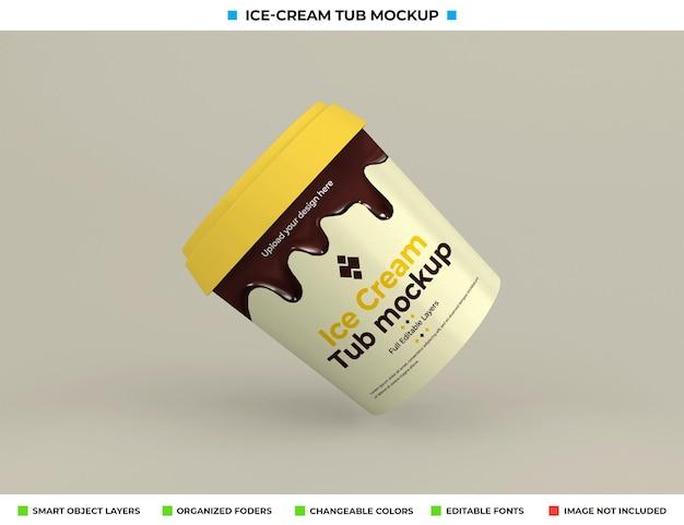 食品コンセプトのアイスクリームタブモックアップデザイン
