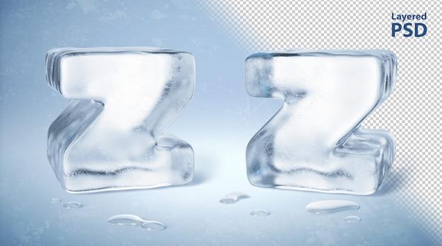 아이스 큐브 3d 렌더링 된 편지 z