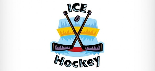 Ice hockey vector logo design