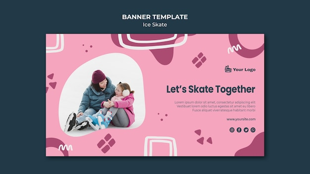 Шаблон баннера для катания на коньках