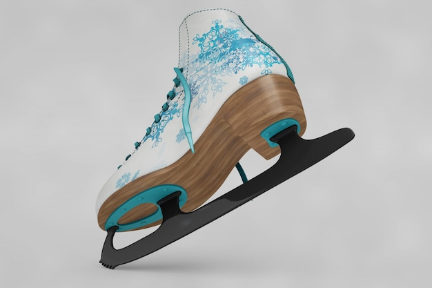 Ice skates shoes mockup