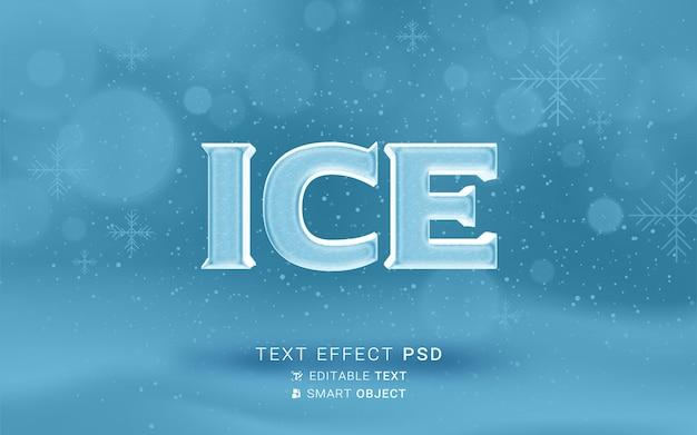 Дизайн текстового эффекта льда