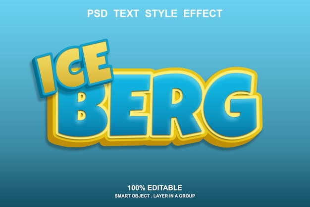 Iceberg text effect