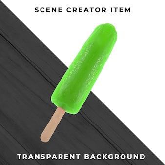 투명 배경에 아이스크림