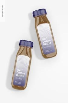 アイスコーヒーガラス瓶モックアップ、上面図