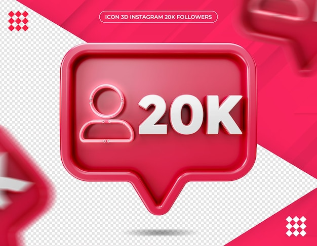 Icon 20k followers on instagram design