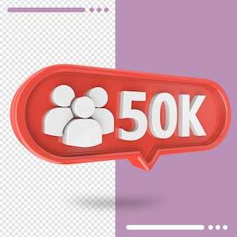 Icon 3d instagram 30k followers isolated