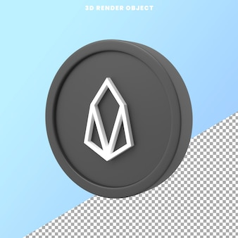 Icon 3d object rendering with transparent background premium psd