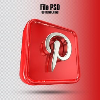 아이콘 pinterest 3d 렌더링