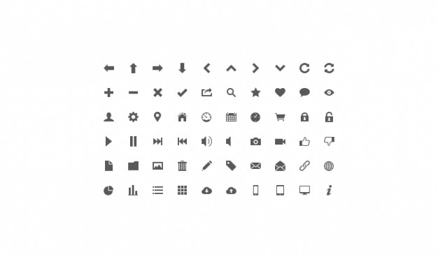 Icon set lignt icon set ui icona