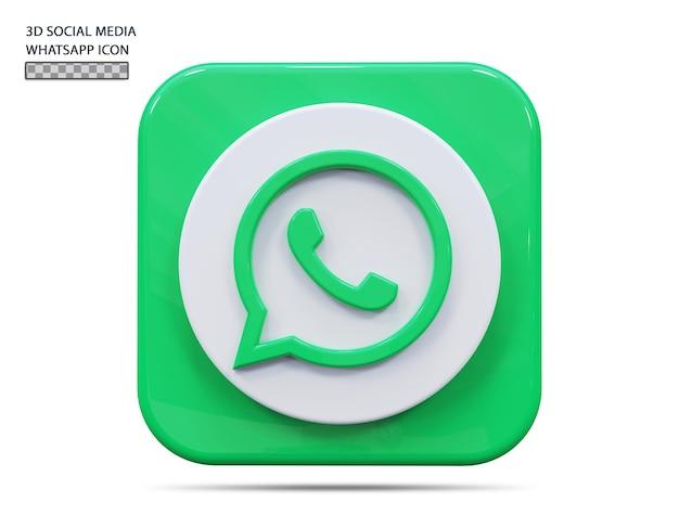Значок whatsapp 3d визуализации концепции