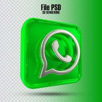 아이콘 whatsapp 3d 렌더링