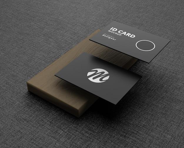 Idカードのモックアップデザイン