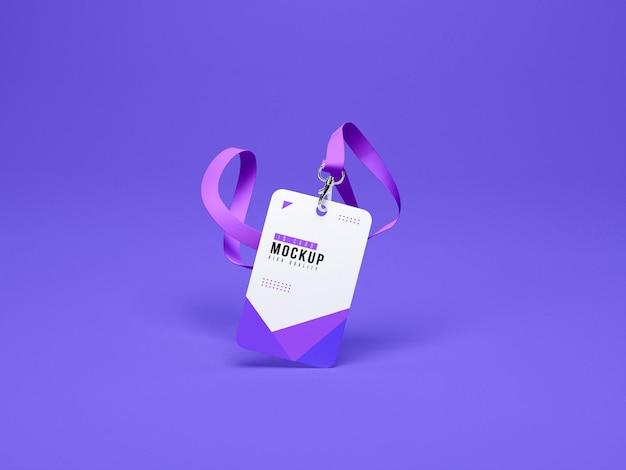 Id cards holder mockup