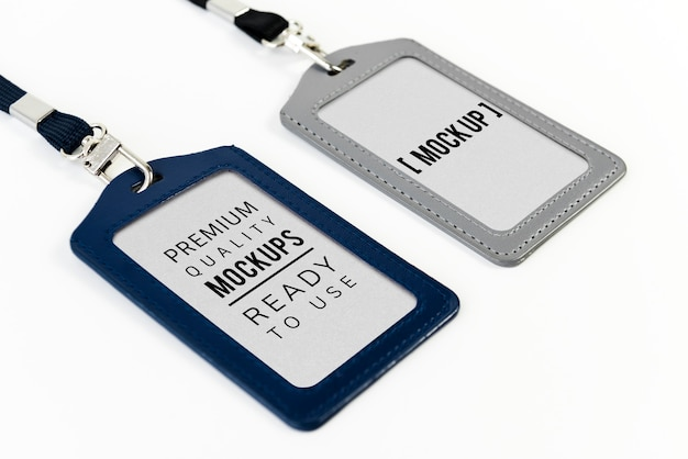 Id card mockup on necklace PSD file | Free Download