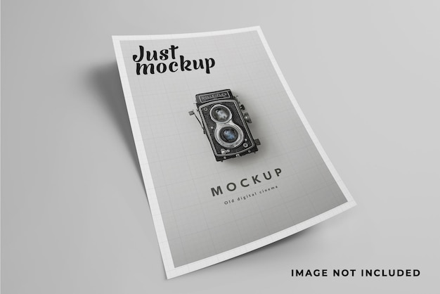 Айдентика а4 флаер мокап дизайн