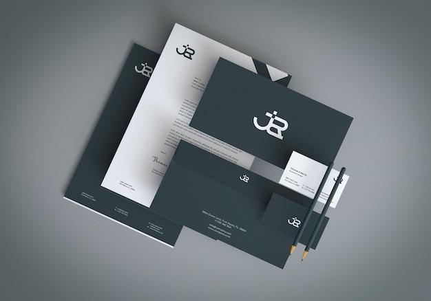 아이덴티티 브랜딩 문구 모형