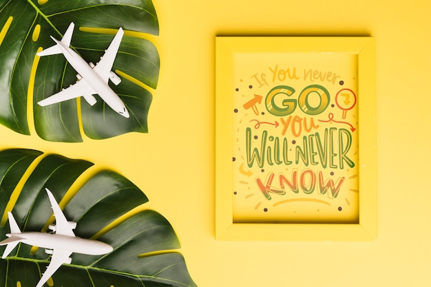 If you never go, you will never know, lettering for travel concept