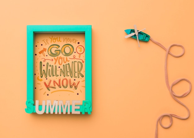 If you never go, you will never know. motivational lettering for holiday concept