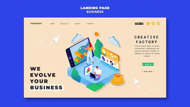 Modello di pagina di destinazione aziendale illustrato