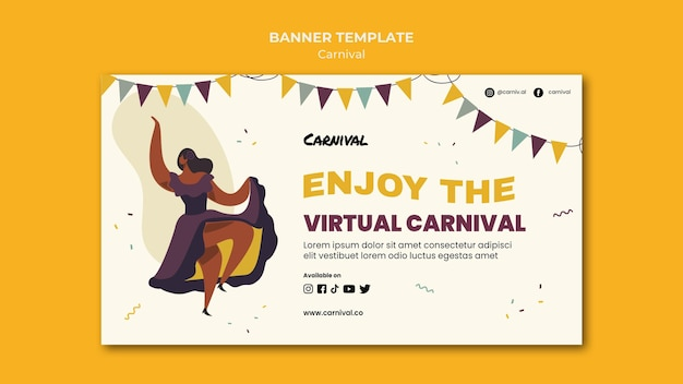 Illustrated carnival banner template