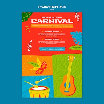 Illustrated carnival poster template