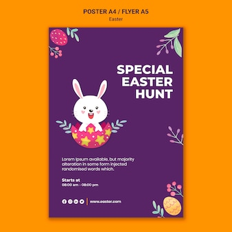 Illustrated easter event print template