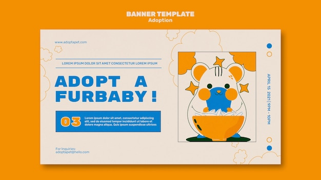 Illustrated pets banner template