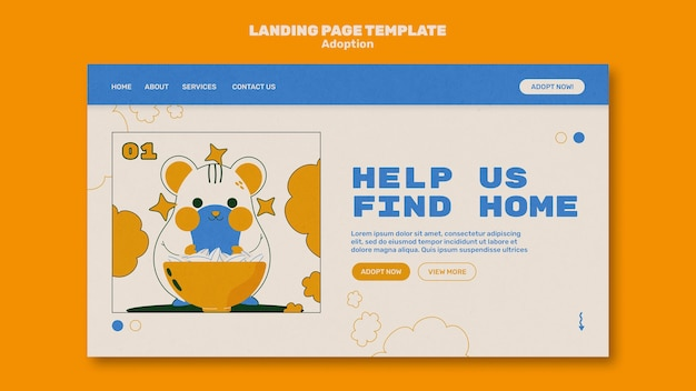 Illustrated pets landing page